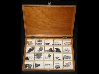 Coleção de minerais – 20 exemplares